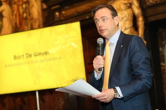Bart De Wever (N-VA) bij de voorstelling van de Ronde van Vlaanderen.