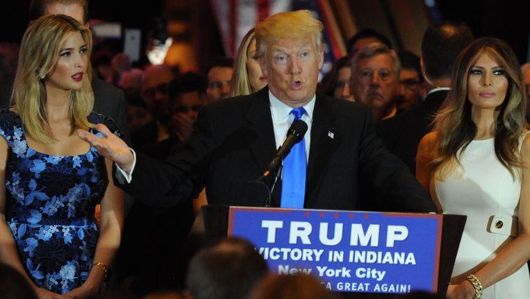 Donald Trump is na de opgave van Ted Cruz alleen in theorie nog van de Republikeinse nominatie af te houden. Beeld Photo News