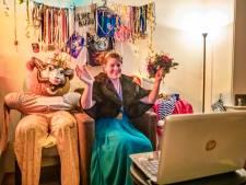 Dit was de 'historische' start van digitaal carnaval bij prinses Leonie (31) van de Vaassense carnavalsvereniging