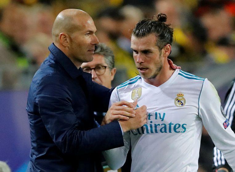 Zidane blij met de productiviteit van Bale. Beeld reuters