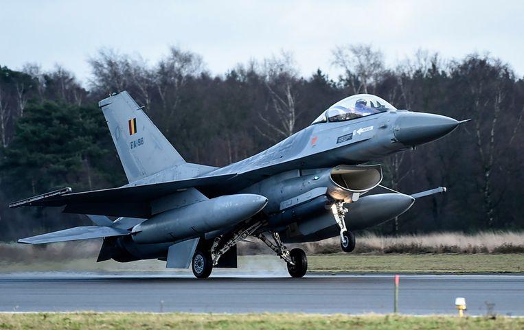 ► De zoektocht naar een opvolger voor de F-16 loopt niet van een leien dakje. Beeld Photo News