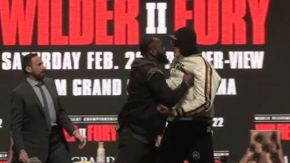 Staredown tussen Wilder en Fury loopt ietwat uit de hand, langverwachte rematch belooft vuurwerk