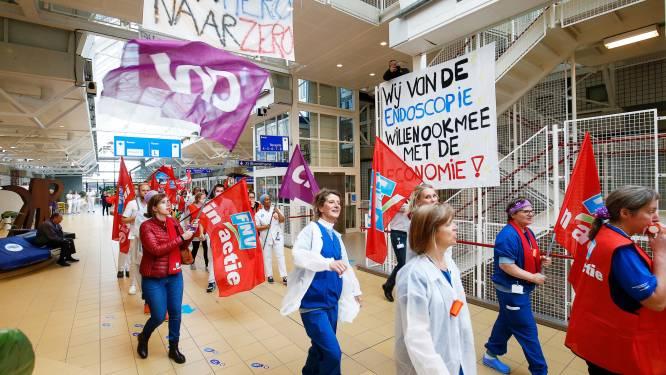 Veel afdelingen UMC Utrecht deels gesloten door staking: 'De strijdlust zat er goed in'