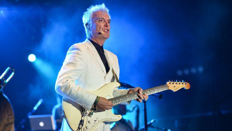 David Byrne, ex-Talking Heads-frontman, is een van de voorvechters van een nieuw muzikaal businessmodel. Beeld Redferns via Getty Images