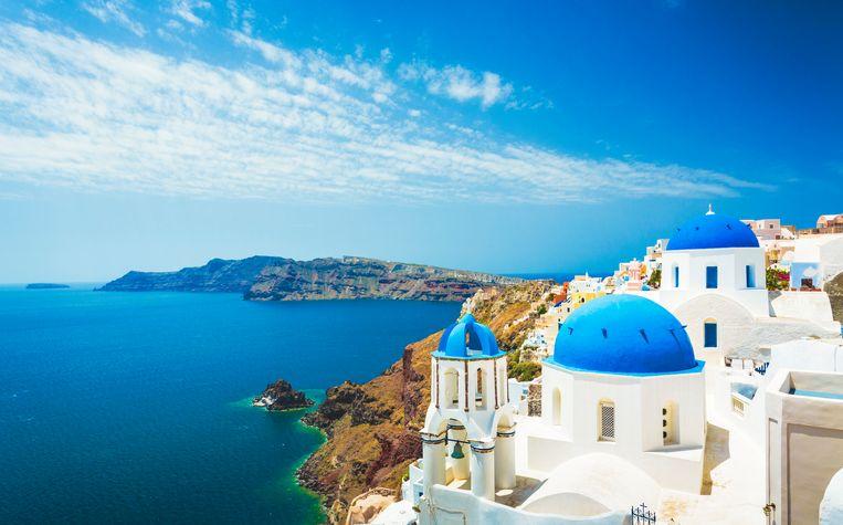 Het eiland Santorini Beeld Getty Images