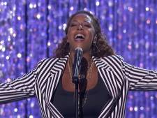 Glennis Grace loepzuiver in liveshow America's Got Talent