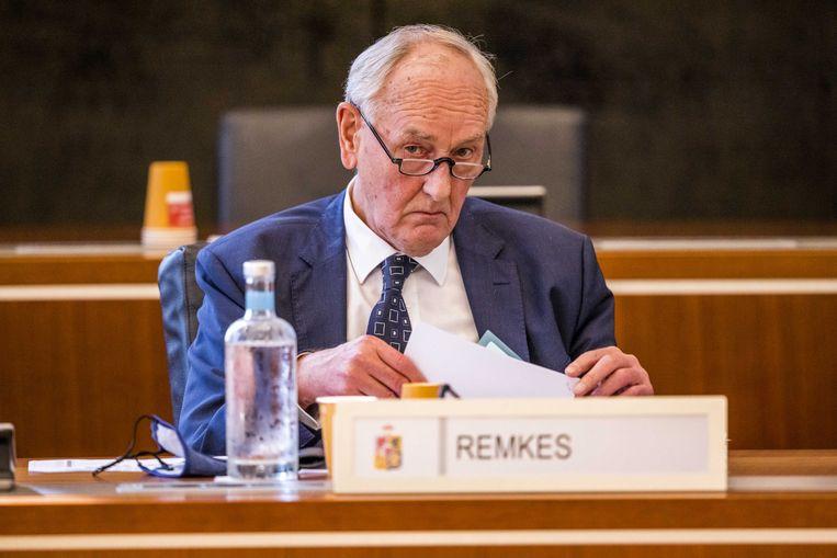 Als waarnemend gouverneur vormt Johan Remkes in zijn eentje het provinciaal bestuur van Limburg. Beeld ANP