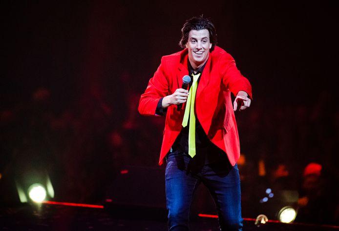 Snollebollekes-zanger Rob Kemps verzorgt samen met gastartiesten twee avonden op rij een optreden in een uitverkocht GelreDome. ANP KIPPA PIROSCHKA VAN DE WOUW