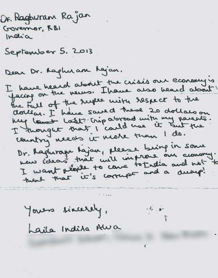 Dit is de brief die Laila aan de gouverneur schreef.