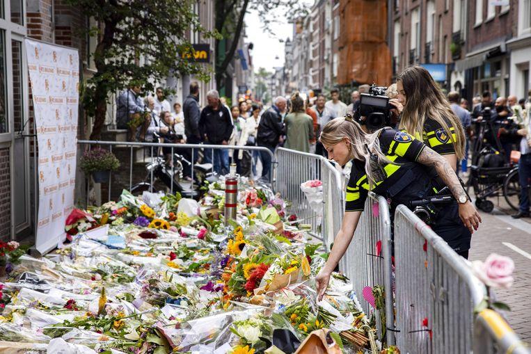 Alle bevolkingsgroepen lieten zich donderdag zien in de Lange Leidsedwarsstraat. Beeld ANP
