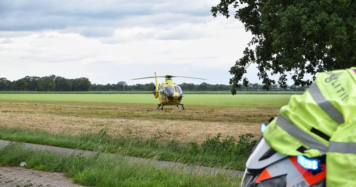 Brommerrijder zwaargewond bij frontale botsing met auto in Diessen.