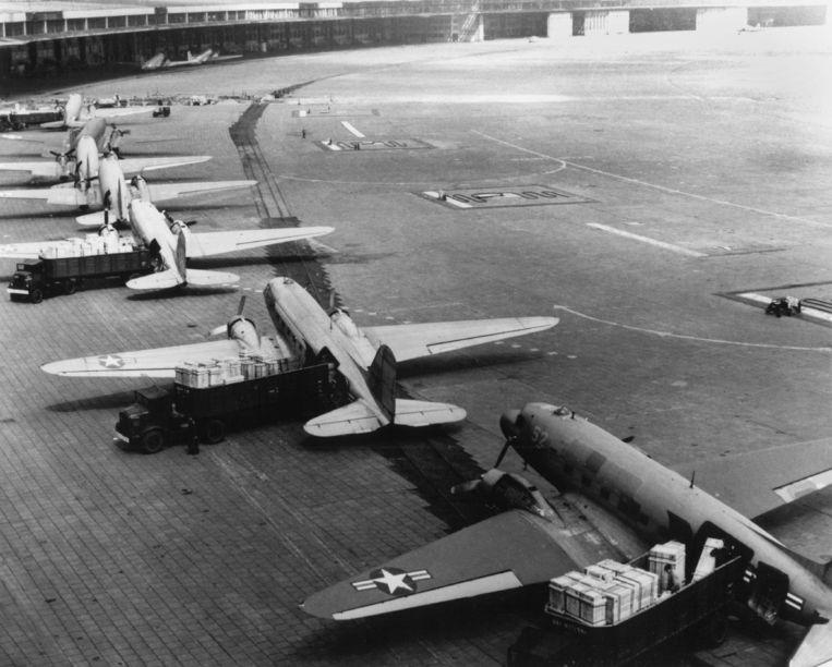 Berlijn Tempelhof in 1948 Beeld Hollandse Hoogte / AFP