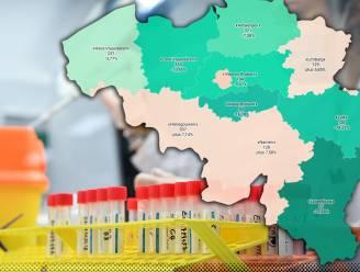 IN KAART. Besmettingen dalen in alle Vlaamse provincies, behalve in Limburg. Bekijk hier de situatie in uw regio