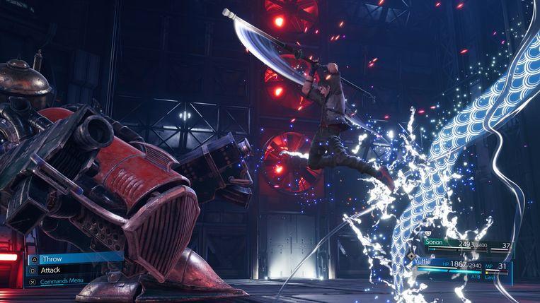 Vijanden en wapens komen in Final Fantasy VII in alle vormen en maten. Beeld Square Enix