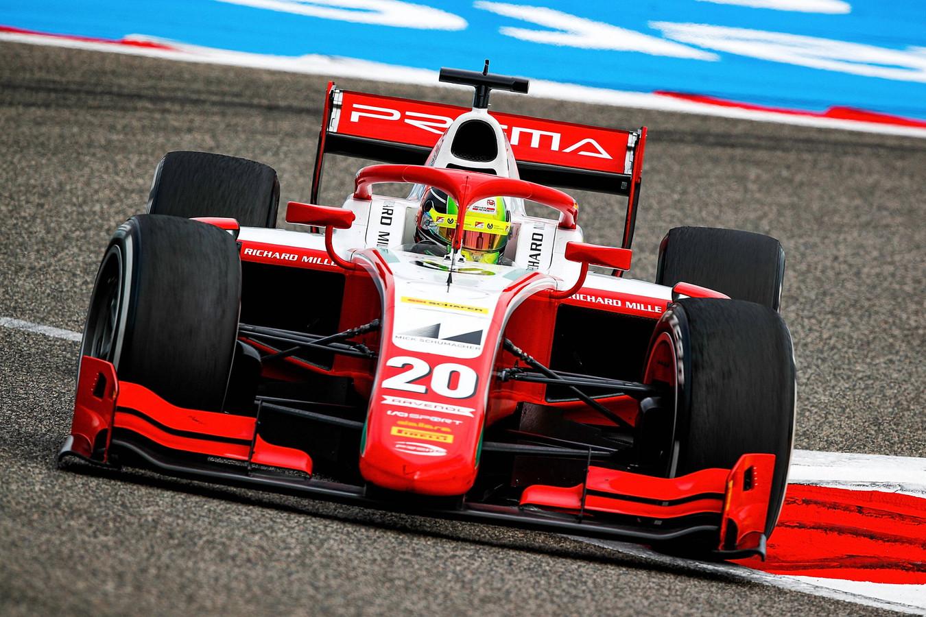 Mick Schumacher in de Formule 2.