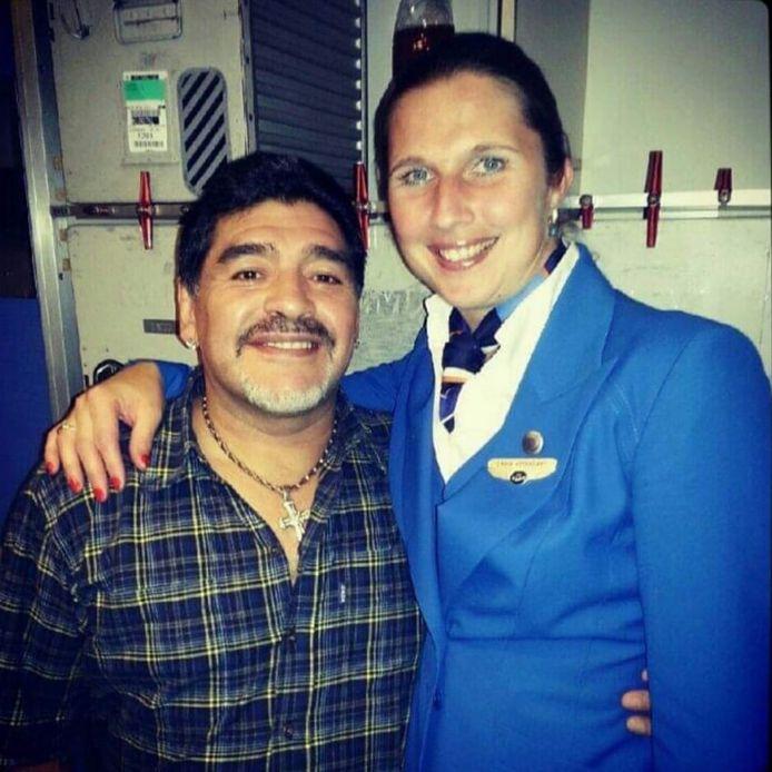 Joyce van der Elst met Diego Maradona.