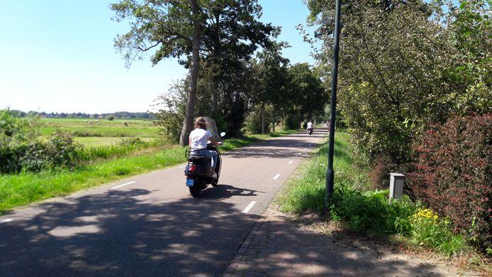 De lange rechte stukken in de Peter van den Breemerweg nodigen uit tot hard rijden.
