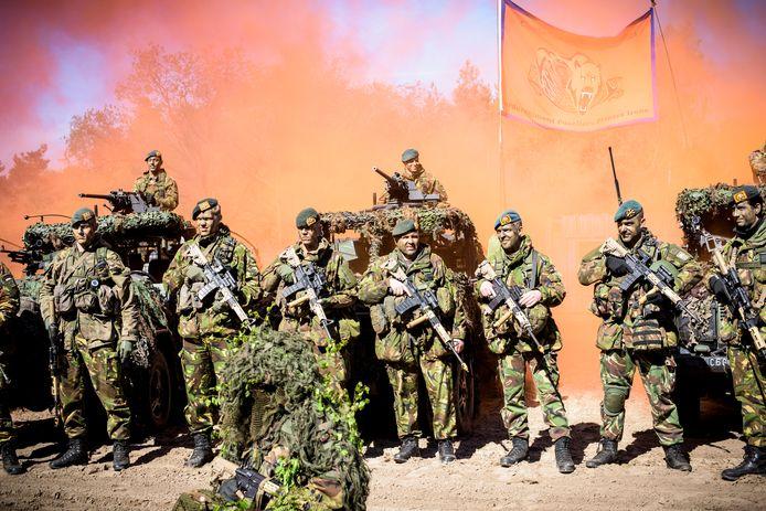 Een oefening van 13 Lichte Brigade in Oirschot in 2016.