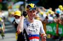 Matej Mohoric won zijn tweede rit in deze Tour in Libourne.