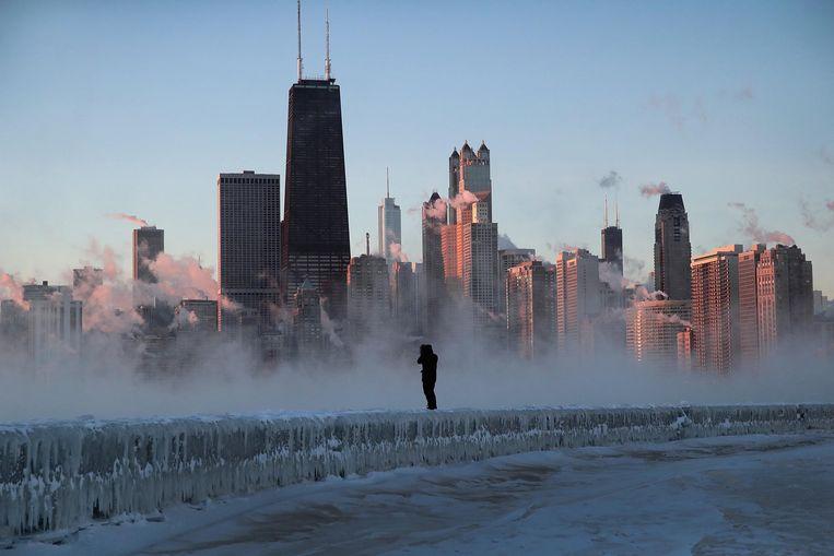 In delen van Chicago deden zich ondertussen vorstbevingen voor.