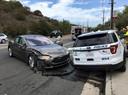Het is niet voor het eerst dat een zelfrijdende Tesla op een stilstaande politieauto klapt. Datzelfde gebeurde in 2018 in Laguna Beach, Californië.