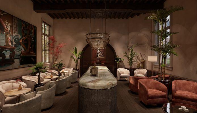 Een van de restaurants van vijfsterrenhotel Botanic Sanctuary Antwerp.