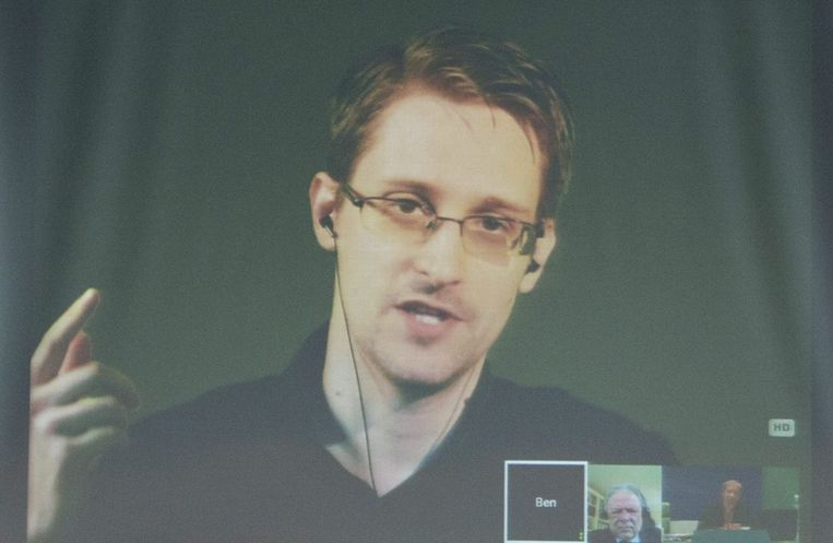 Edward Snowden.  Beeld epa