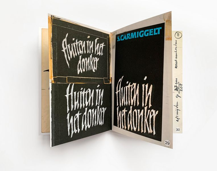 S. Carmiggelt: Fluiten in het donker (ontwerp Helmut Salden, 1966, niet gebruikte schetsen). Beeld Karen Polder