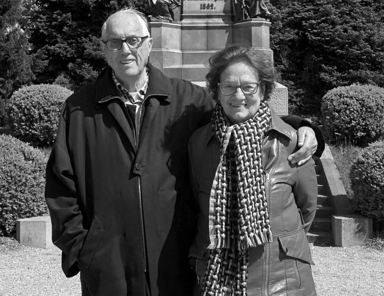 'Wim en Mini de Vries vierden in 2018 hun diamanten bruiloft, voor 60 huwelijksjaren.'