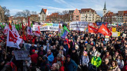 Duizenden mensen betogen in Erfurt tegen extreemrechts