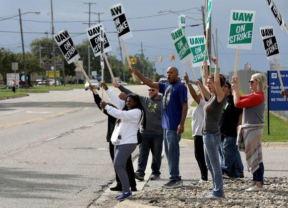 De werknemers van General Motors staken.