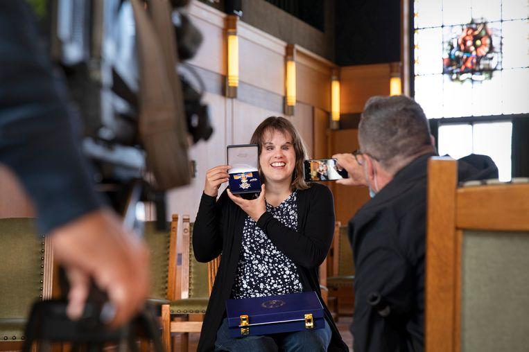 Marleen Mulders (35) is de jongste die daags voor Koningsdag een lintje krijgt. Beeld Ton Toemen
