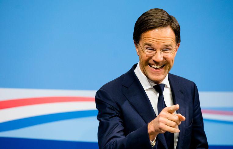 Premier Rutte vrijdag tijdens de eerste persconferentie na de ministerraad van 2019.  Beeld ANP