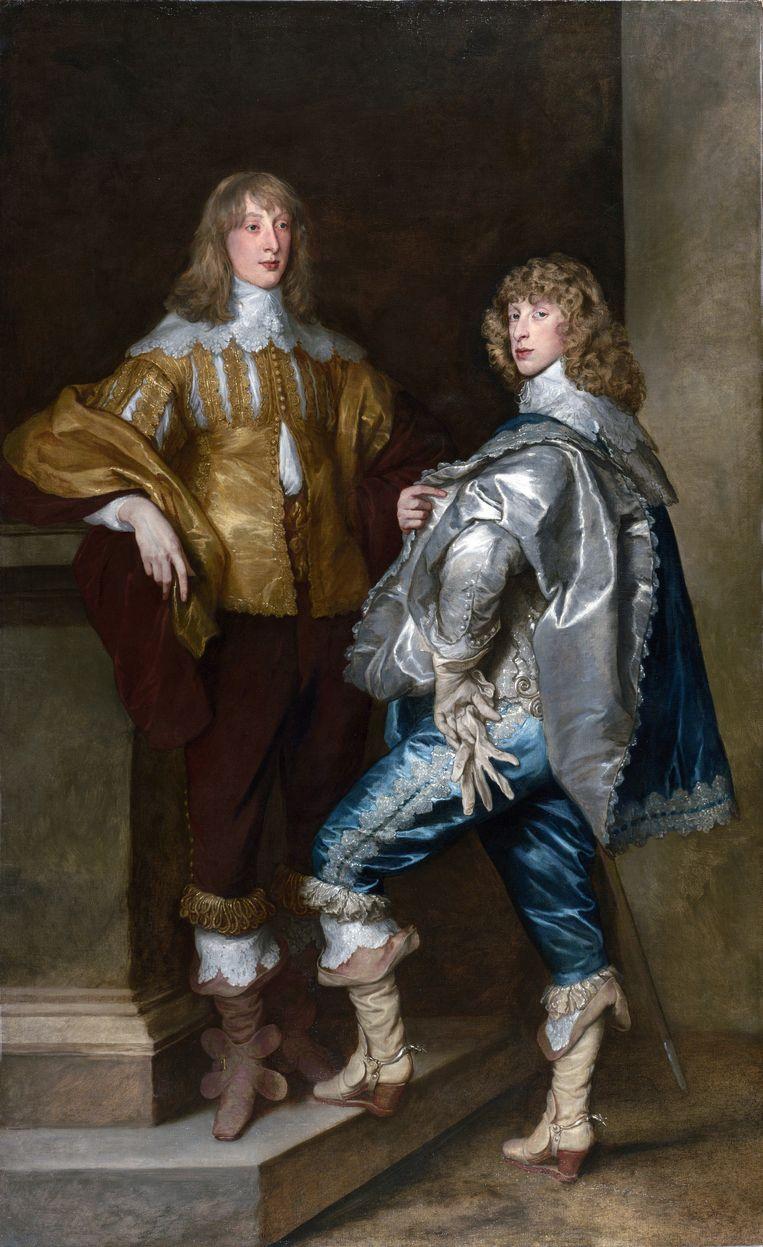 Anthony van Dyck. Dubbelportret van Lord John Stuart en zijn broer Lord Bernard Stuart 1638 Olieverf op doek 237,5 x 146 cm Beeld Collectie National Gallery, Londen