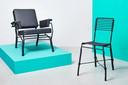 Lounge stoel en hoge stoel van Ward Wijnant.