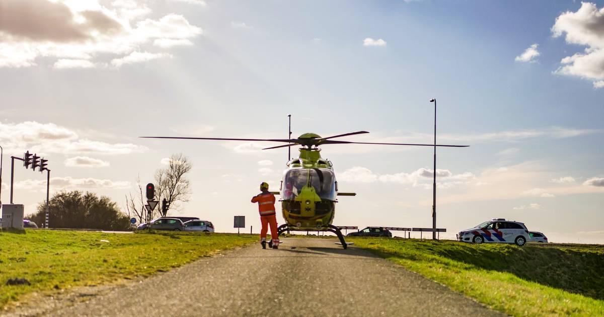 Fietser overleden na ongeluk in Harderwijk.