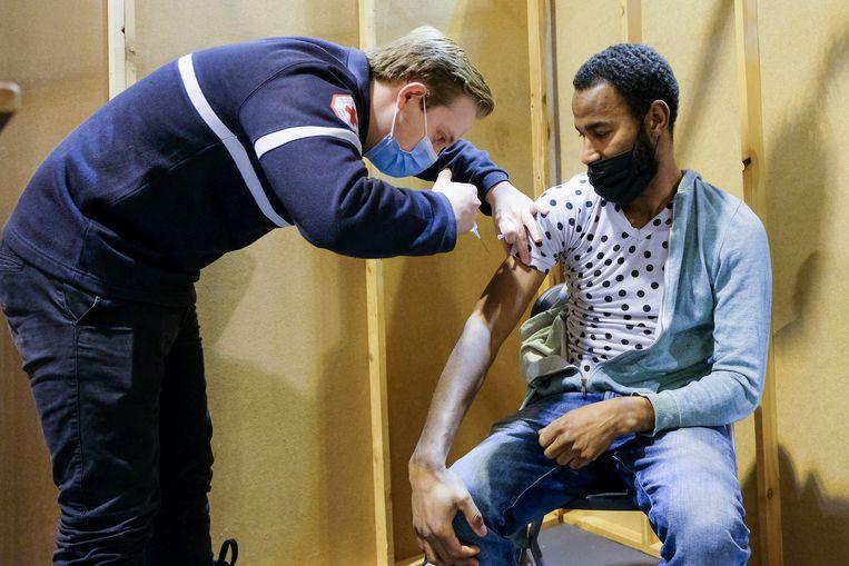 test vaccinatiecentrum Beeld Marc Baert