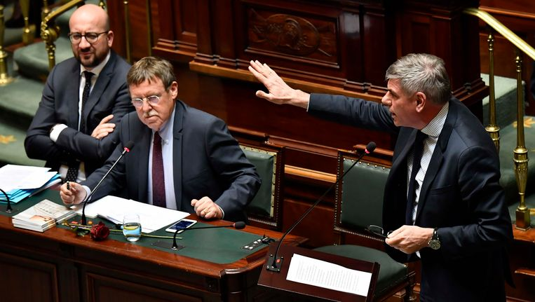 Charles Michel (MR) en Filip Dewinter (Vlaams Belang).