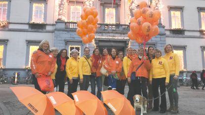 """Zes Aalsterse gebouwen kleuren oranje: """"Stop geweld tegen vrouwen"""""""