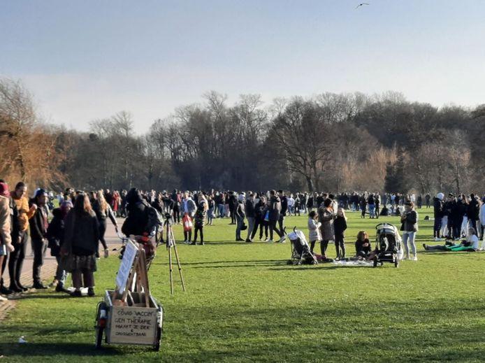 Groepen verzamelden zich in het Westbroekpark na een oproep op sociale media.