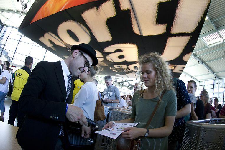 Ticketscan bij het North Sea Jazz festival Beeld anp