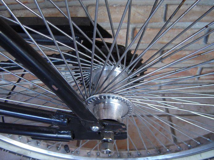 Een fietswiel. Foto ter illustratie.