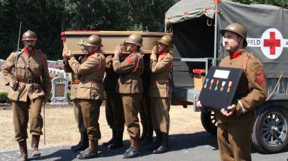Vier gesneuvelden uit WO I plechtig herbegraven