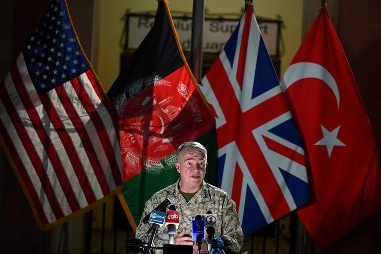 De Amerikaanse generaal Kenneth McKenzie. Beeld AFP