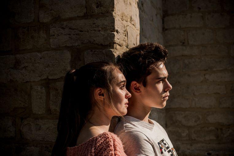 Jonge Leeuwen Warre Verlinden en Emma Verlinden, broer en zus in 'Undercover' Beeld Diego Franssens