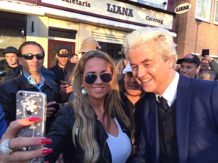 Geert Wilders in Sint Willebrord, 2017 Beeld Twitter