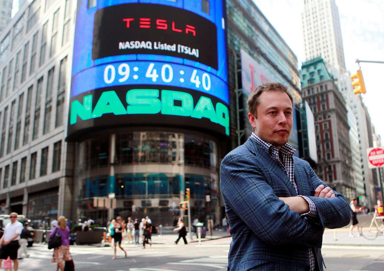 Topman Elon Musk van Tesla steunt de sociale beweging die onrust creëert op de Amerikaanse beurs. Beeld REUTERS