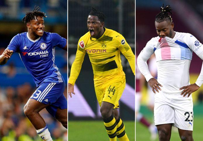 Batshuayi bij Chelsea, Dortmund en Crystal Palace.