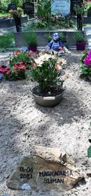 Een recent graf op de Islamitische Begraafplaats Bergen op Zoom.