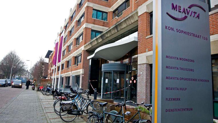 Hoofdkantoor van het failliete thuiszorgconcern Meavita in Den Haag. Beeld anp